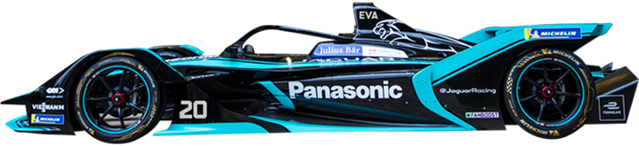 Mitch Evans 2019 Panasonic Jaguar Racing Formula E car