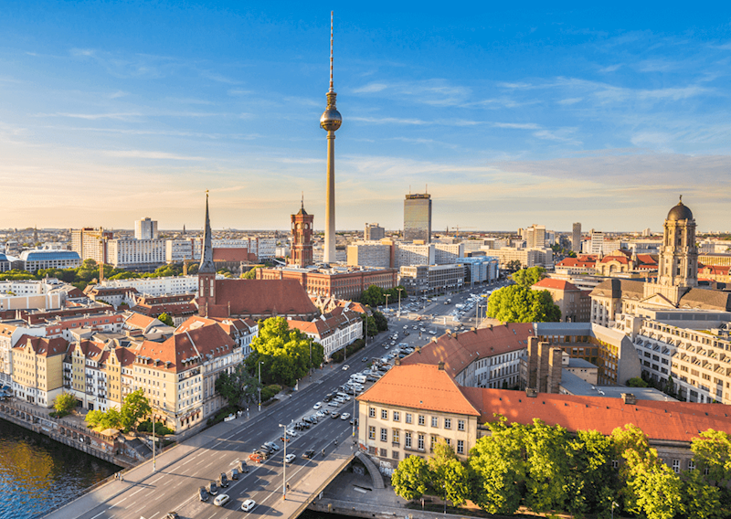 landscape image of the Berlin skyline