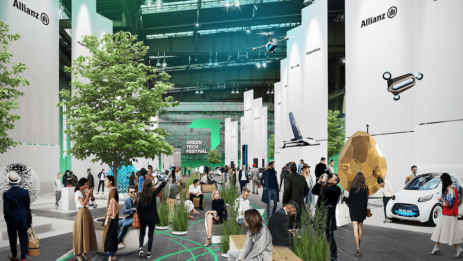 mockup illustration of the Greentech Festival