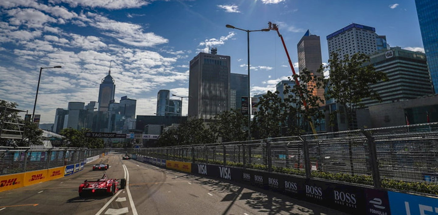the track at the Hong Kong E-Prix