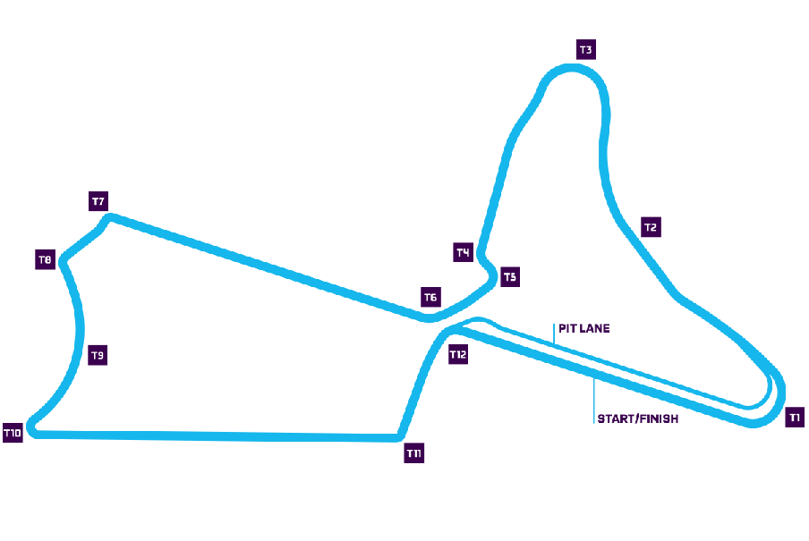 map showing the Marrakesh E-Prix track