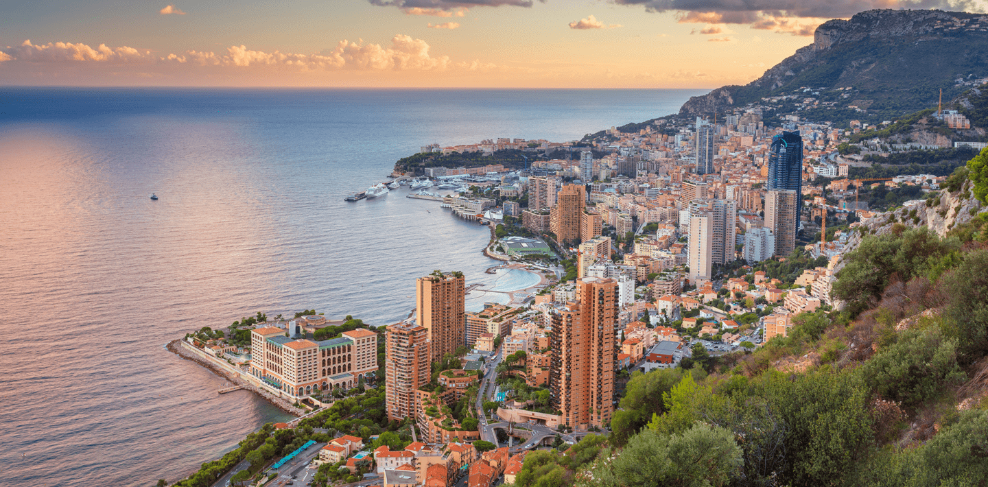 landscape image of the Monaco skyline