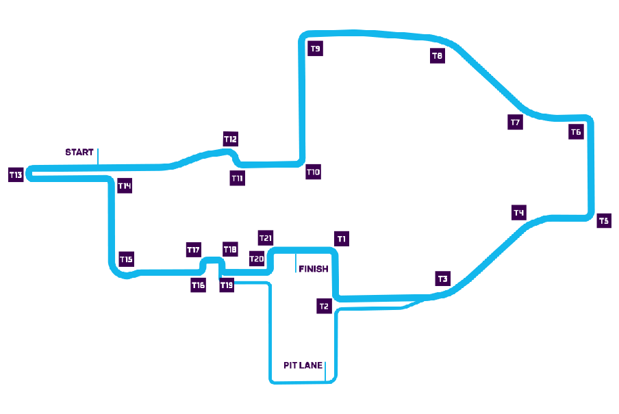 Rome track map