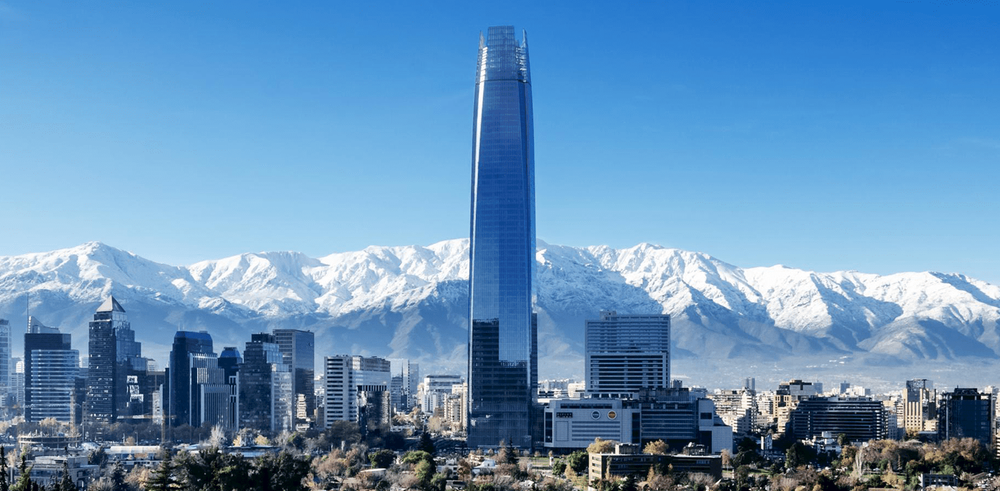 landscape image of the Santiago skyline
