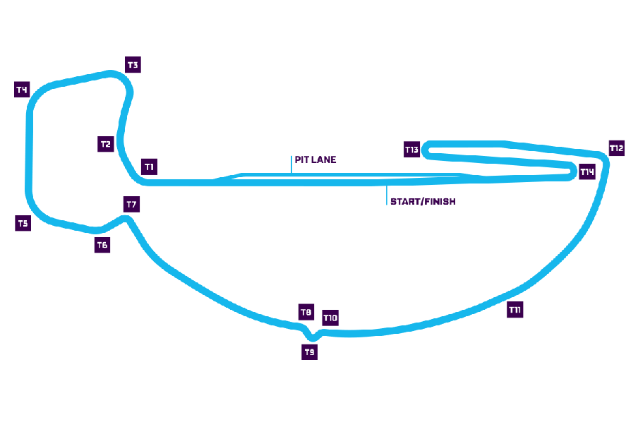 Santiago track map