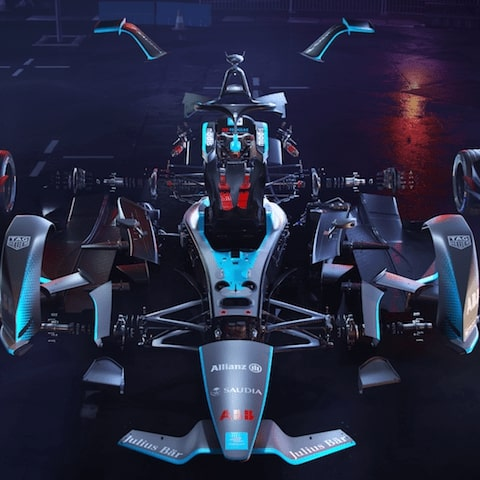 exploded image of a gen2 formula e car