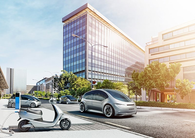 illustration of future electric mobility as envisioned by Bosch