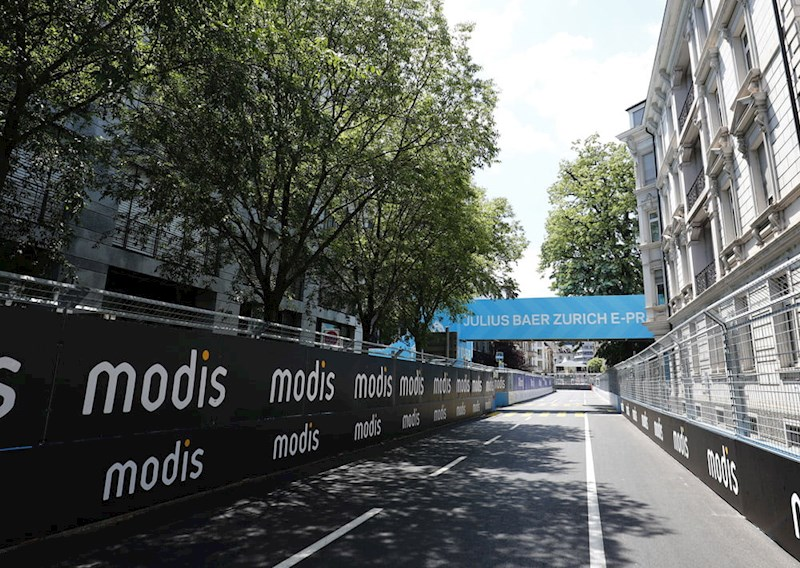 Modis banners at the Zurich E-Prix