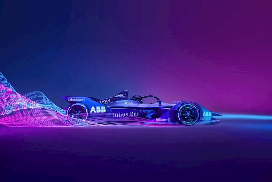 a Formula E Generation 2 electric racing car