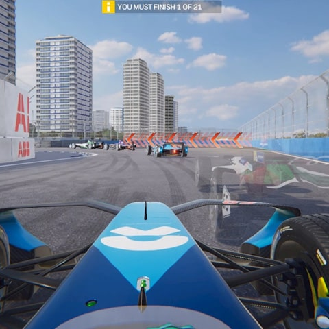 screenshot from Formula E Ghost Racing game