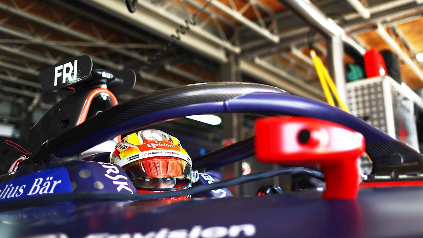 robin frijns at the marrakesh e-prix