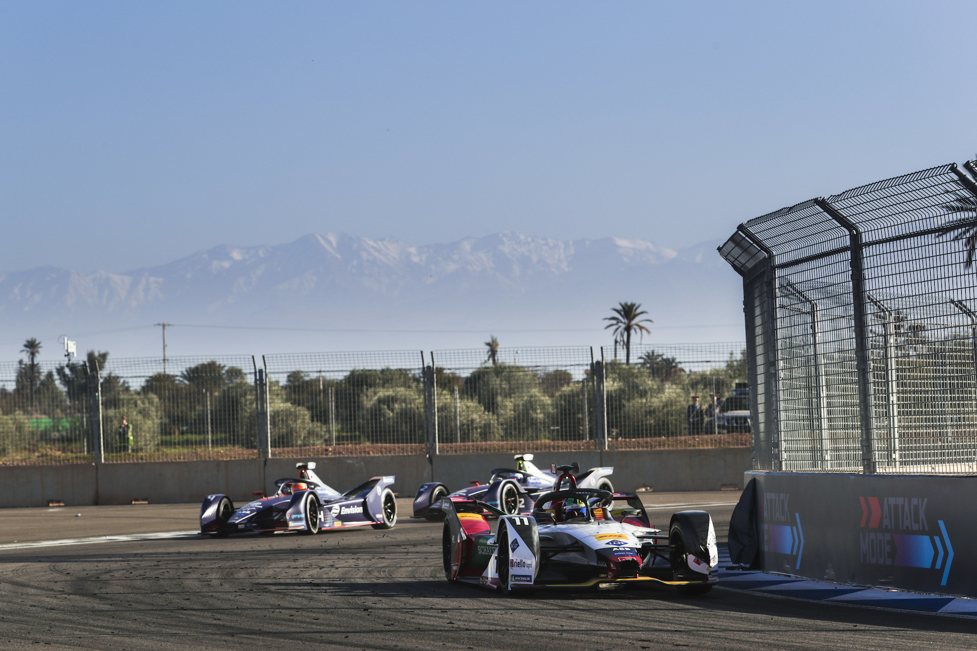 formula e cars racing in marrakesh
