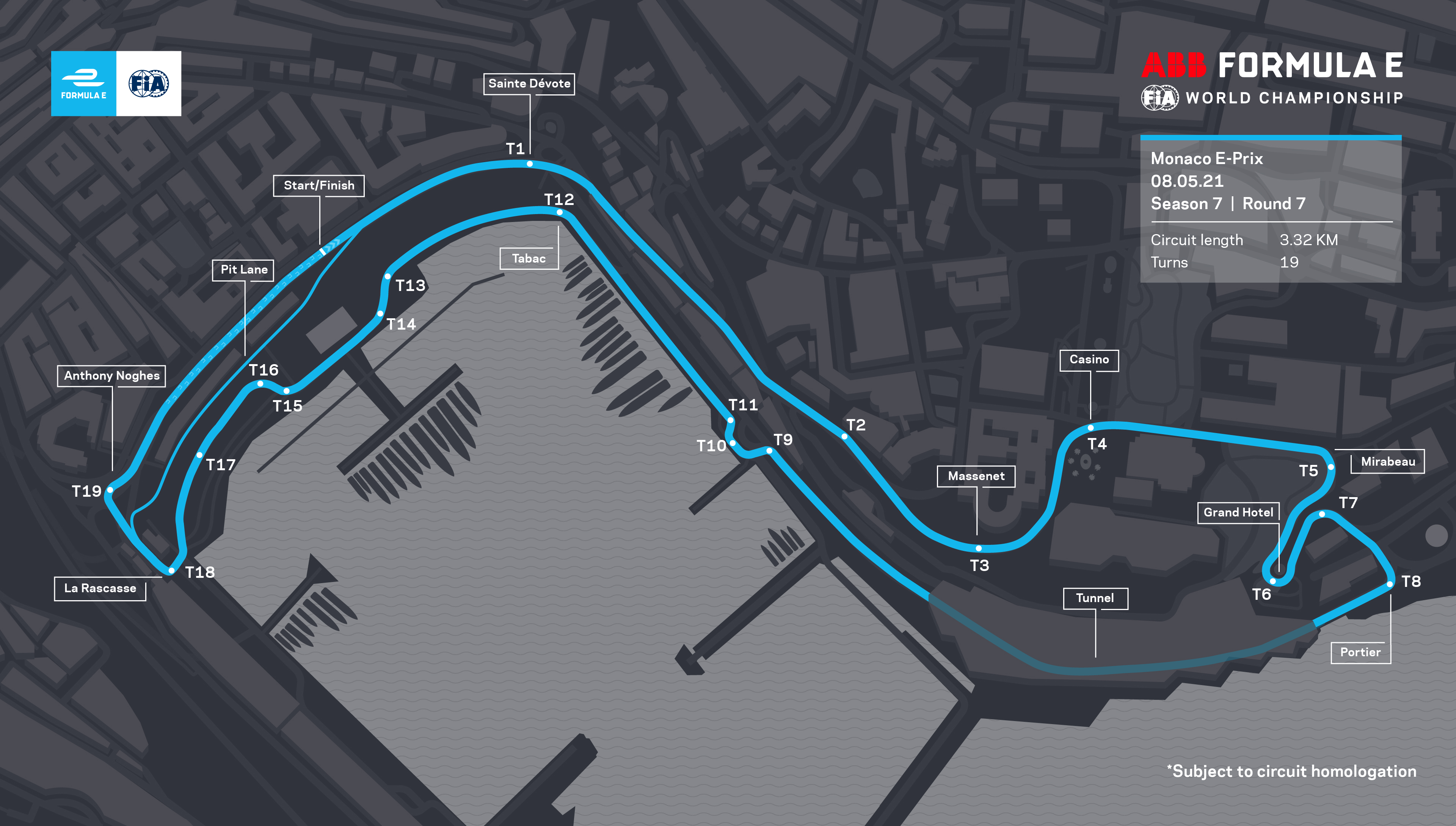 Monaco E-Prix new circuit layout